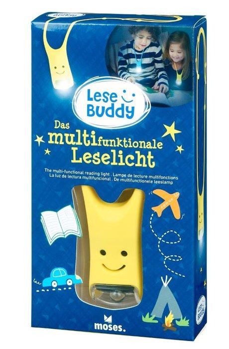 Linterna de lectura infantil lese buddy amarillo