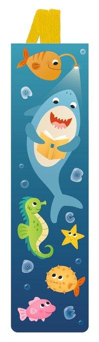 Marcapaginas infantil goma elastica oceano