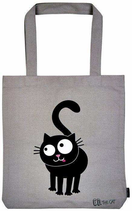 Bolsa de tela ed el gato gris