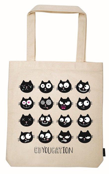 Bolsa de tela de la compra ed el gato edyoucation