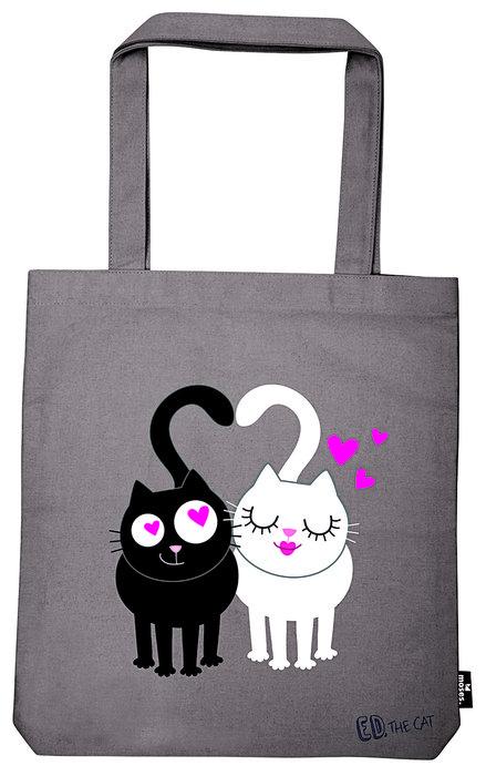 Bolsa de tela de la compra ed gatos love