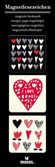 Marcapaginas magnetico corazones