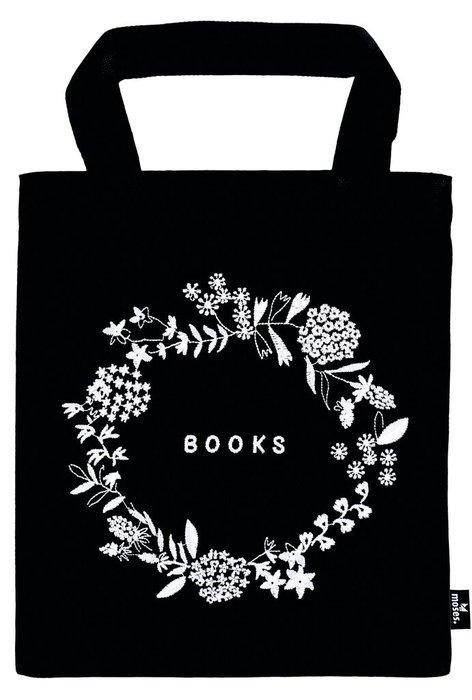 Bolsa de tela para libros flowers