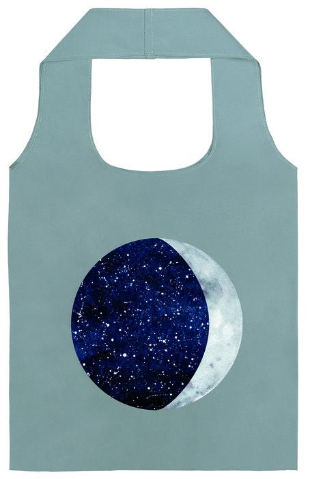Bolsa de compra plegable luna y estrellas reflectante