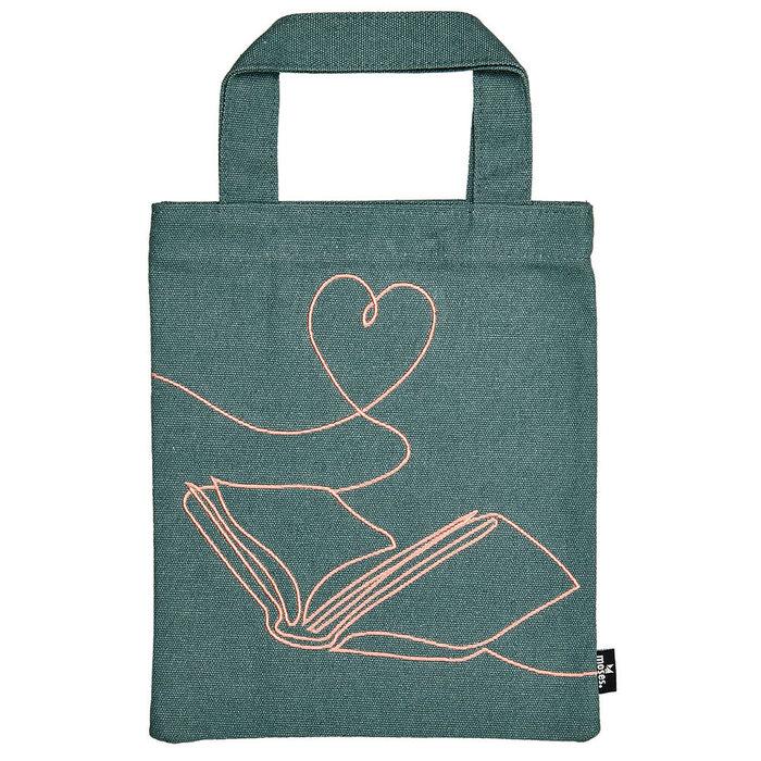Bolsa de tela para libro con bordado