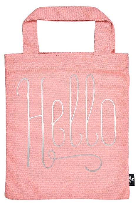 Bolsa de tela para libro - hello