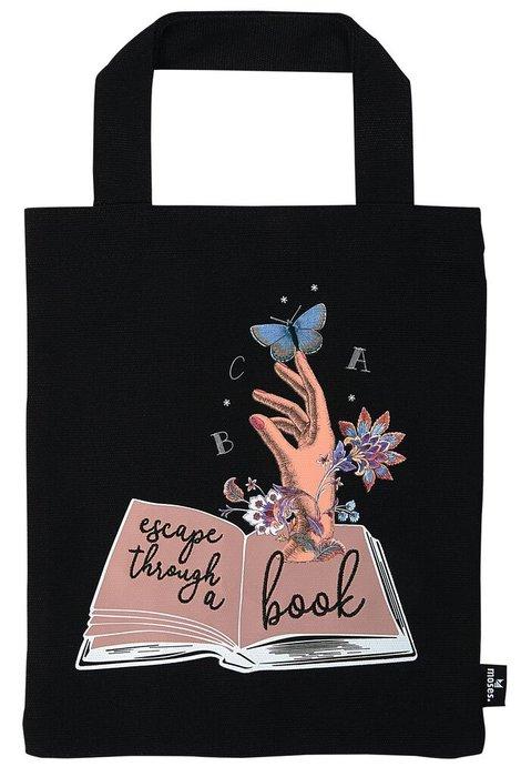 Bolsa de tela para libros escape through a book