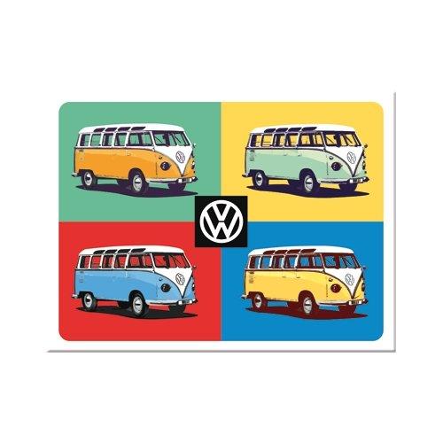 Iman 6x8 cm volkswagen vw bulli - pop art