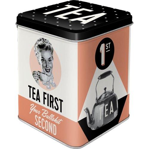 Caja para te say it 50´s tea first
