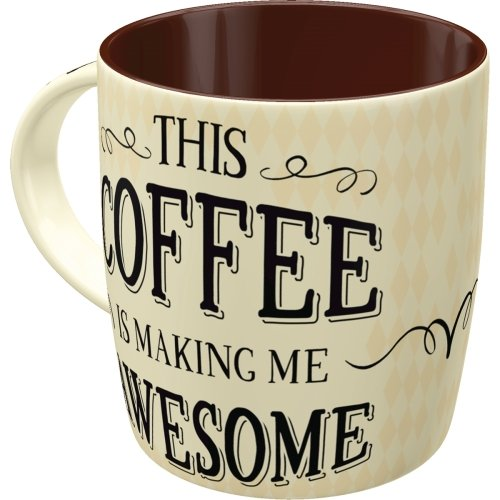 Taza 330ml word up awesome coffee