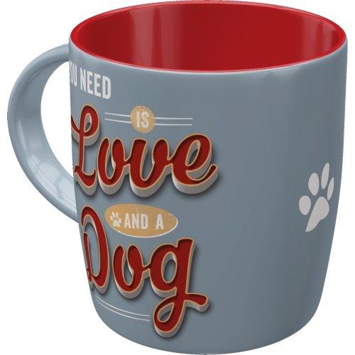 Taza 330ml pfotenschild - love dog