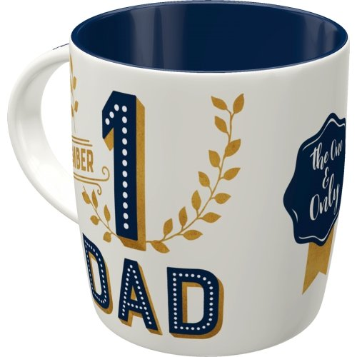 Taza 330ml word up number 1 dad
