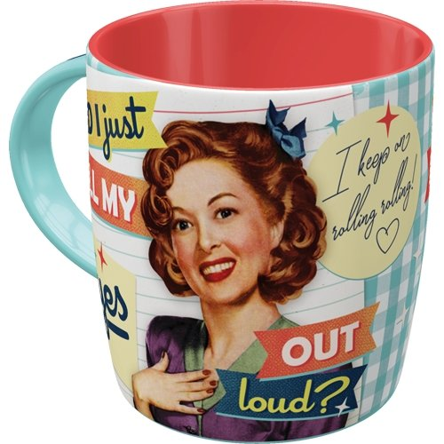 Taza 330ml say it 50´s - did i just roll my eyes out loud