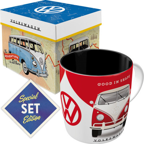 Set taza con caja nostalgic-art volkswagen vw good in shape