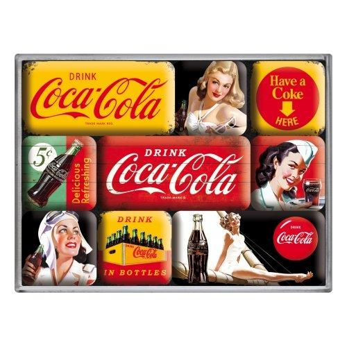 Set de 9 imanes coca-cola - yellow mix