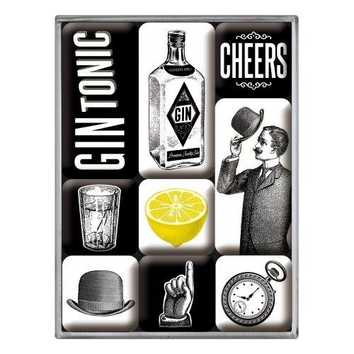 Set de 9 imanes open bar gin tonic
