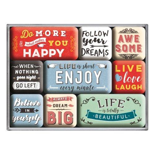 Set de 9 imanes word up enjoy life