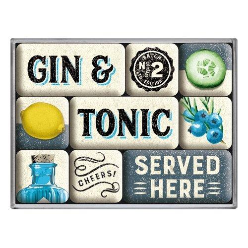 Set de 9 imanes open bar gin & tonic served here