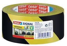 Cinta señalizacion adhesiva permanente 50 mm amarillo/negro