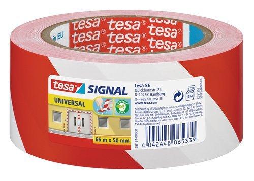 Cinta seÑalizacion adhesiva permanente 50 mm rojo/blanco