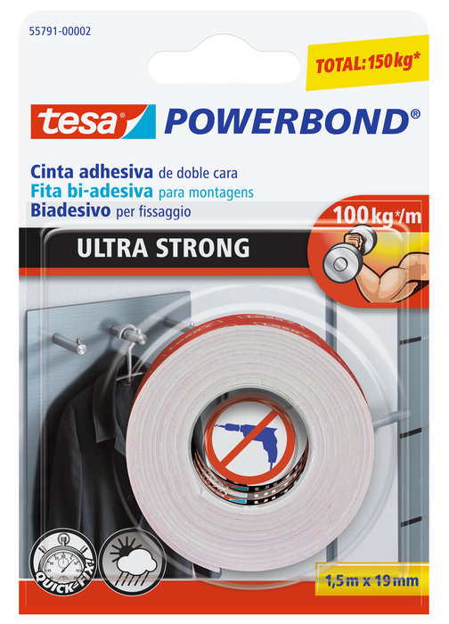 Cinta adhesiva doble cara 1.5x19mm powerbond