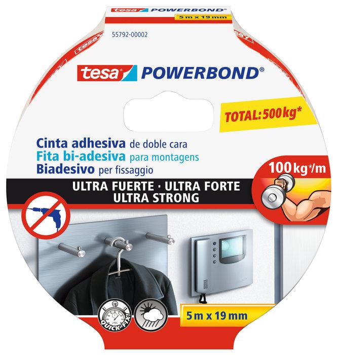 Cinta adhesiva tesa doble cara powerbond ultra-fuerte 100 kg