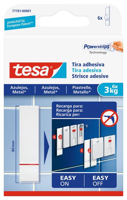 Recambio tira adhesiva tesa powerstrips hasta 3kg para azule