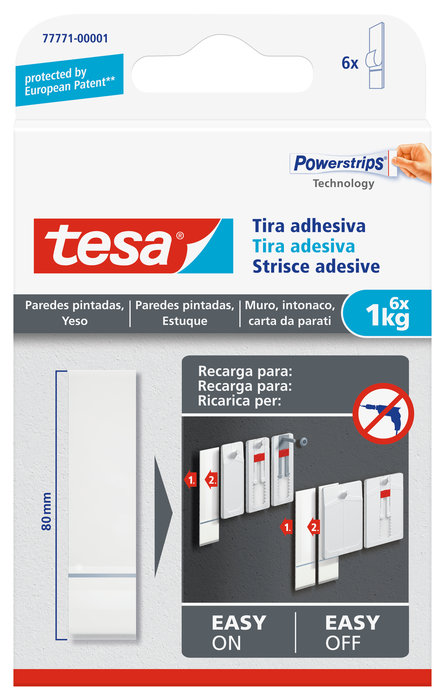 Recambio tira adhesiva tesa powerstrips  hasta 1kg para pare