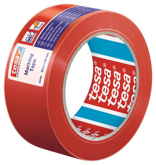 Cinta seÑalizacion adhesiva temporal 50mm rojo