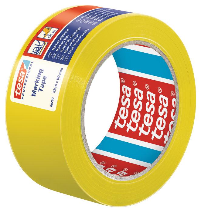 Cinta seÑalizacion adhesiva temporal 50mm amarillo