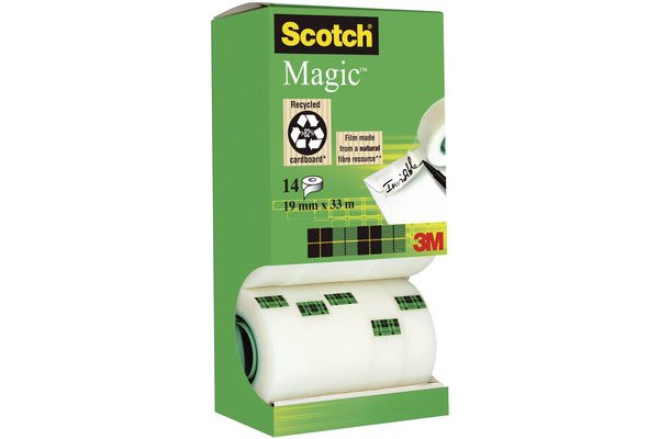 Cinta adhesiva 19x33 scotch magic 14 rollos