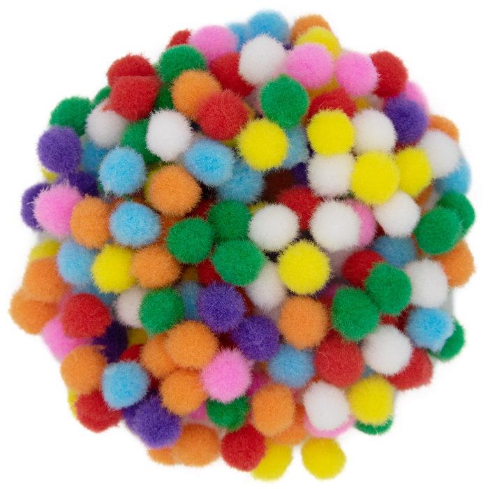 Pompones 10mm 200pzas colores surtidos