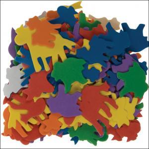 Animales goma eva 120pzas color surtido