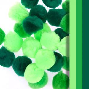 Pompones 25mm 30 pzas verdes