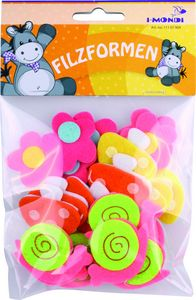 Flor caracol setas 3d felpa adhesivos 45x75mm 24unid