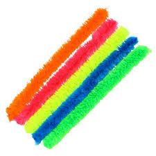 Varillas chenille gruesas 10unid colores neon