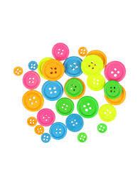 Botones madera 30unid colores neon