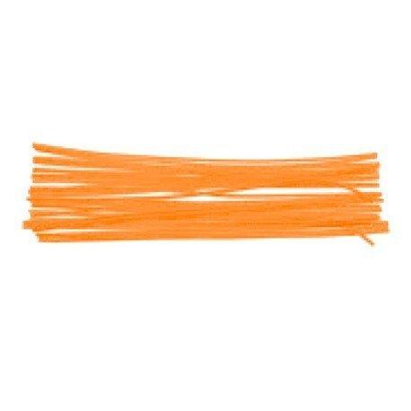 Varillas chenille 50cm 15 pzas naranja
