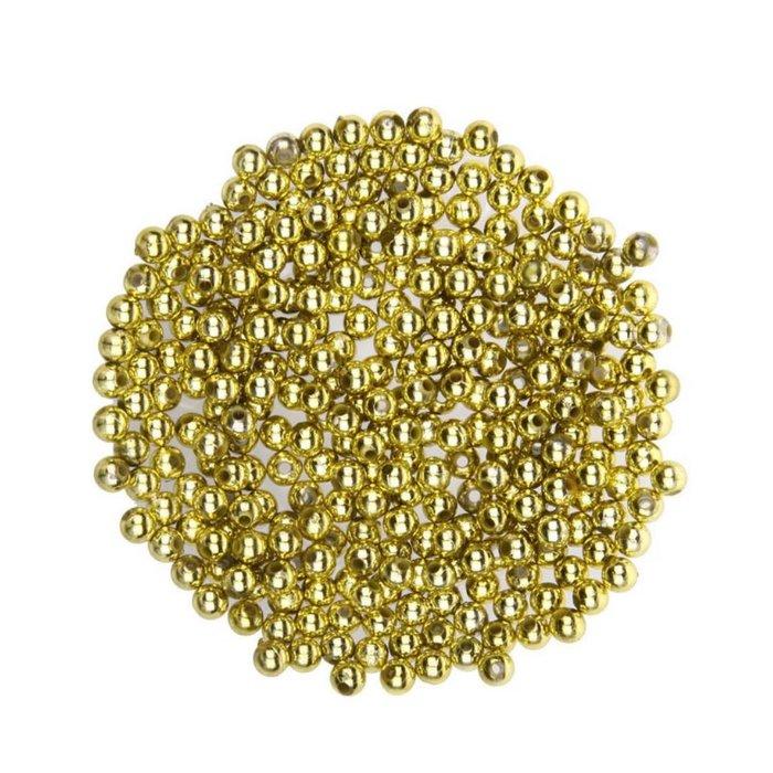 Perlas metal oro 6mm 350 unidades