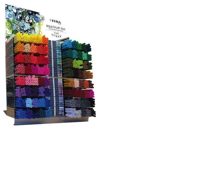 Rotulador lyra aqua brush duo expositor 80 colores x 10 uds