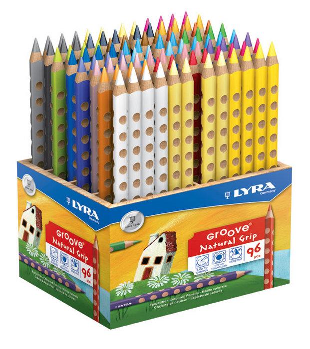 Lapiz de color lyra schoolpack 96 ud