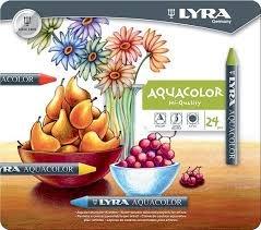Cera lyra aquacolor 24 colores surtidos caja metal