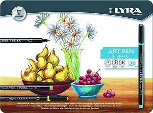 Rotulador lyra hi-quality art pen 20 colores surtidos caja m
