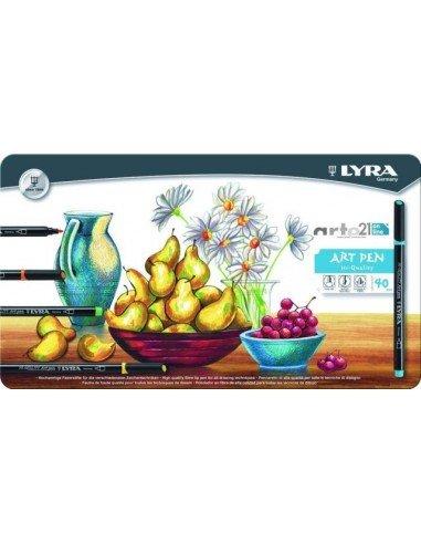 Rotulador lyra hi-quality art pen 40 colores surtidos caja m
