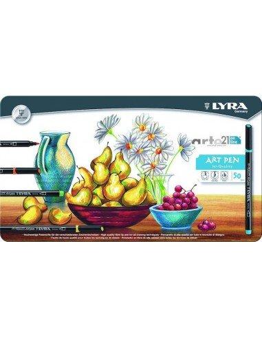 Rotulador lyra hi-quality art pen 50 colores surtidos caja m