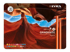 Rotulador lyra graduate fineliner estuche metal 20 ud