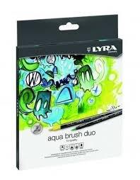 Rotulador lyra aqua brush duo 12 colores surtidos