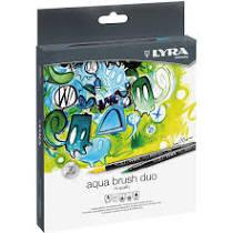 Rotulador lyra aqua brush duo 24 colores surtidos