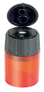 Sacapuntas lyra plastico con deposito 2 agujeroeros caja 10