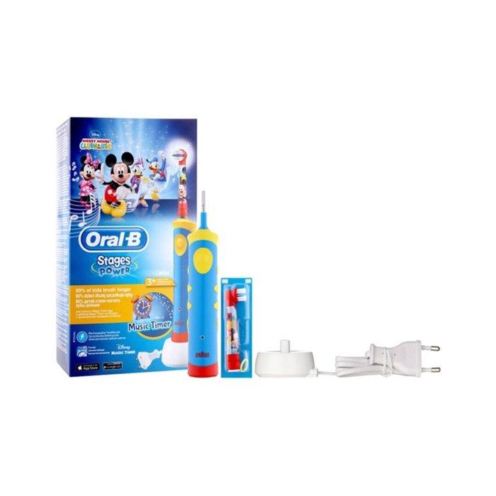 Cepillo electrico infantil mickey con musica oral-b stages p